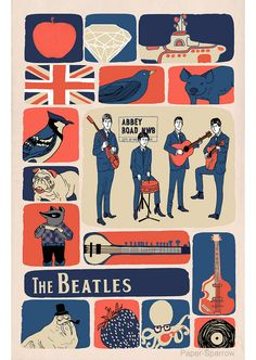 - The Beatles, John Lennon, Paul Mccartney Quality Canvas Print Choose Your Size & Garden Poster Dos Beatles, Les Beatles, Beatles Art, Poster S, Poster Prints, Art Print, Ringo Starr, Rock Posters, Band Posters