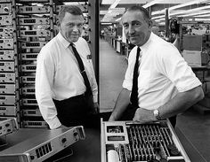 Bill Hewlett  and Dave Packard. Founders of HP.
