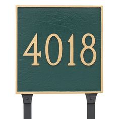 Montague Metal Products Classic Square Standard One Line Address Sign Plaque Finish: Gray/Silver