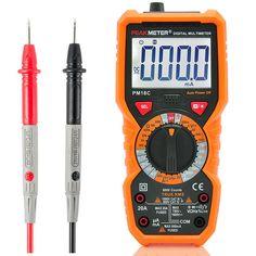 PEAKMETER PM18C Digital Multimeter Voltage Current Resistance Capacitance Frequency Temperature Tester ℃/℉ hFE NCV Live Line Tester