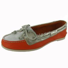 Sperry TopSider Womens Audrey TriTone Boat Shoe OrangeWhiteGold US 65 * More info could be found at the affiliate link Amazon.com on image.