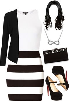 """striped # 1"" by frozenr1 ❤ liked on Polyvore"
