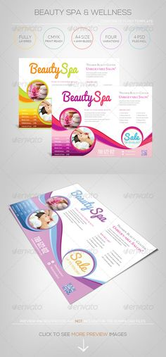 Beauty Spa & Wellness  Flyer Template — Photoshop PSD #beauty #modern • Available here → https://graphicriver.net/item/beauty-spa-wellness-flyer-template/5315920?ref=pxcr