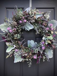 Spring Wreath Spring Purple Wreath Door Wreaths Spring New Home Gift Housewarming Gift Birthday Gift Ideas Spring Decor Mothers Day Gift Purple Wreath, Floral Wreath, Spring Door Wreaths, Christmas Wreaths, Spring New, New Home Gifts, Shades Of Purple, Grapevine Wreath, House Warming