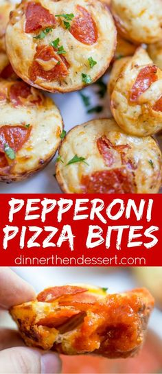 Kids will love this dinner idea! Pepperoni Pizza Bites are a cross between a bagel bite and a pizza muffin. Bagel Bites, Pizza Recipes, Appetizer Recipes, Cooking Recipes, Easy Cooking, Healthy Cooking, Pizza Appetizers, Skillet Recipes, Cooking Tools