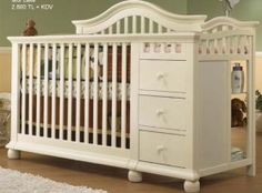 Cape Cod 4 in 1 Convertible Crib w/ Changer by Sorelle.Kendall's new (to us) bed that I found at a YARDALE today! Baby Boy Rooms, Baby Cribs, Kids Rooms, Nursery Furniture, Kids Furniture, Crib With Changing Table, Changing Pad, 4 In 1 Crib, Best Crib