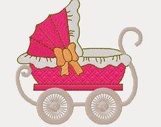 Bordados Creative: Matriz carrinho de bebê Towel Embroidery, Machine Embroidery Patterns, Embroidery Applique, Quilt Patterns, Crochet Patterns, Creative Embroidery, Janome, Diy And Crafts, Baby