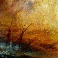 J.M.W. Turner. Slave Ship Slavers Throwing Overboard the Dead and Dying, Typhoon Coming On. 1840. Museum of Fine Arts Boston.