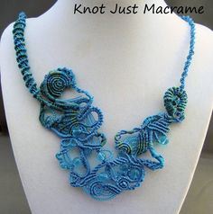 My first free form piece in micro macrame