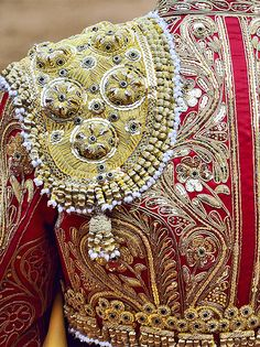 Intricate braiding often a part of the mens military dress costumes