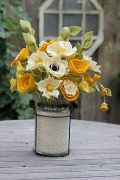 Цветы из фетра. Создаём букеты своими руками