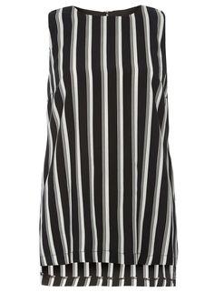 Photo 1 of Black and White Stripe Tunic