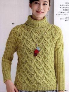 Классический пуловер, связанный пальмовыми листьями | Вязание спицами | Постила Knitting Projects, Knitting Patterns, Crochet Patterns, Winter Blouses, Poncho Sweater, Crochet Clothes, Lana, Knitwear, Knit Crochet