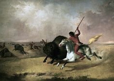 Painting of Indian hunting buffalo, Smithsonian American Art Museum (formerly National Museum of American Art) by lreed76, via Flickr