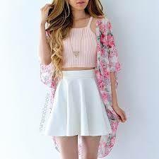 Chloe Crop Top - Pink - Cute skirt outfits and dresses - Frau Teenage Outfits, Teen Fashion Outfits, Cute Fashion, Outfits For Teens, Look Fashion, Girl Fashion, Teenage Girl Clothes, Fashion Clothes, Fashion Ideas