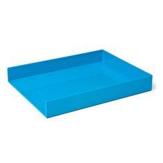 Pool Blue Single Letter Tray,Pool Blue