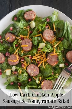Low Carb Chicken Apple Sausage & Pomegranate Salad recipe - this is ...