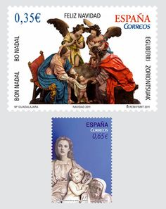 2011 Christmas stamps from Spain Love Stamps, Balearic Islands, Small Art, My Stamp, Stamp Collecting, Woodblock Print, Japanese Art, Postage Stamps, Ephemera