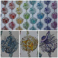 """""""S detaily #lostocean #lostoceancoloringbook #johannabasford #coloring #coloringbook #oceanoperdido"""""""