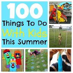 Keep your kids entertained with this list of 100 fun things to do this summer! #sixsistersstuff