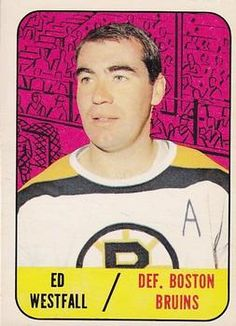 Topps Ed Westfall Front New York Islanders, Hockey Stuff, Hockey Cards, Trading Card Database, Boston Bruins, Ice Hockey, Trading Cards, Athletes, Nhl