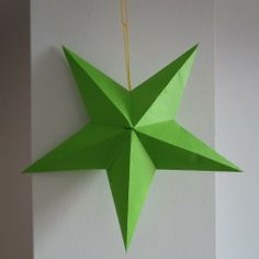 Como hacer una estrella de papel para decorar | Fiestas infantiles y cumpleaños de niños