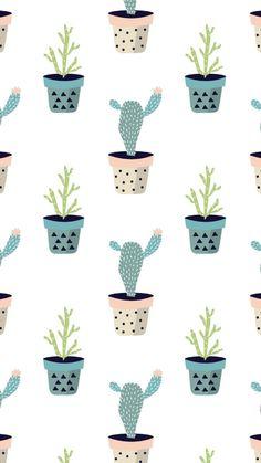 Beautiful Ipod Wallpaper, Trendy Wallpaper, Pattern Wallpaper, Cute Wallpapers, Wallpaper Backgrounds, Boxing Day, Cactus Illustration, Ipad Background, Whatsapp Wallpaper