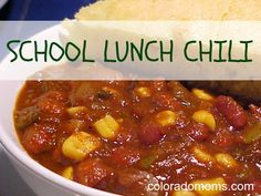 Tasty Tuesday: School Lunch Chili