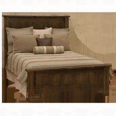 Fireside Lodge Furniture Frontier Traditional Bed w/Low Profile Footboard