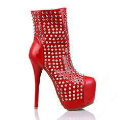 red high heels platform via american fashion store. Click on the image to see more!
