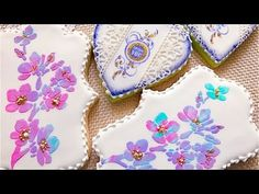 (227) How to stamp and stencil a cookie.🌸🌸🌸 - YouTube