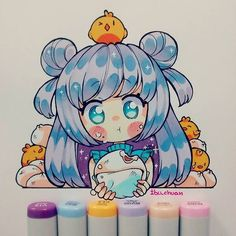 Marvelous Learn To Draw Manga Ideas. Exquisite Learn To Draw Manga Ideas. Anime Chibi, Kawaii Anime, Art Kawaii, Kawaii Chibi, Cute Chibi, Manga Anime, Anime Art, Marker Kunst, Copic Marker Art