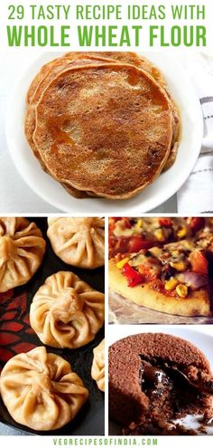 Want to make breakfast lunch and dinner healthier? Try any of these whole wheat recipes! From baking homemade bread to making healthy simple desserts there is an easy Indian recipe for you! Lunch Recipes Indian, Easy Indian Recipes, Indian Desserts, Ethnic Recipes, Flour Recipes, Dog Food Recipes, Healthy Recipes, Veg Recipes, Healthy Foods