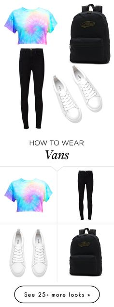 """My First Polyvore Outfit"" by shiraleshem on Polyvore featuring Vans and Frame Denim"