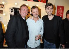 Philip Glenister, John Simm and David Tennant.  my heart just exploded.