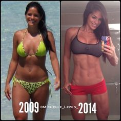 Michelle Lewin-ultimate fitspo-before and after-transformation.