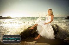 Fearless Bridal (aka Trash The Dress) Portraits at Laguna Beach by Loren Scott Photography - Temecula / Murrieta Photographer
