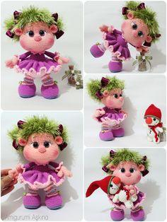 En Güzel Örgülerim: Amigurumi Bıcırık Bebek - Amigurumi Doll
