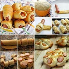 How to Make Easy Sausage Rolls in 2 Ways tutorial and instruction Sausage Bread, Sausage Rolls, Breakfast Pastries, Bread And Pastries, Pastries Recipes, Hot Dog Rolls, Bread Shaping, Creative Food, Diy Food