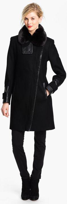 fashion I moda I abrigo negro