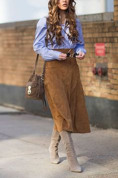 6 Chic Ways to Wear Skirts in the Fall  via @PureWow