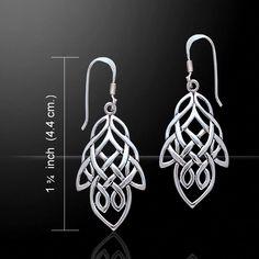 Celtic Knotwork Silver Earrings TE261