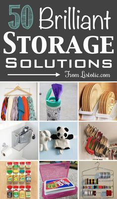 A ton of really clever storage ideas! This helps my organisation OCD quite a lot! Cheap Storage, Diy Storage, Storage Ideas, Ribbon Storage, Creative Storage, Extra Storage, Bathroom Storage, Kitchen Storage, Do It Yourself Organization