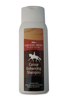 Fly Away Colour Enhancing shampoo-400ml bottle Colour Enhancing Shampoo enhances and enriches your horses natural coat colour this fantastic low