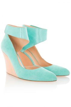 GREEN Annabelle Wedge Heels