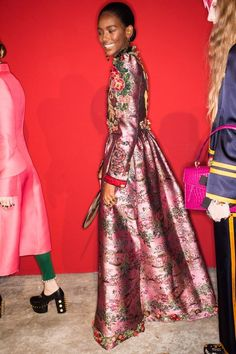 See behind-the-scenes photos from the Gucci Spring 2017 show at Milan Fashion Week.