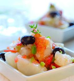 Esqueixada de bacalao by Cuisine Companion. Un plato refrescante y completo que hará las delicias de los paladares más exigentes. Consulta toma de la receta: http://www.clubcocinamoulinex.es/recetas/detalle/456