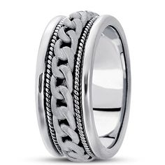 HAND MADE WEDDING BAND  Available as a special order.
