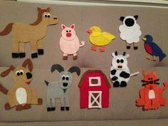 SALE Old MacDonald felt animals set Felt Story by Lolerfly Baby Crafts, Felt Crafts, Infant Crafts, Toddler Crafts, Felt Board Stories, Felt Stories, Felt Material, Flannel Material, Felt Boards