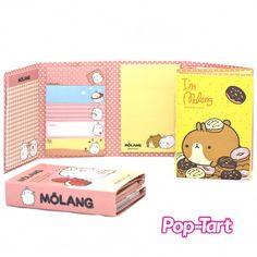 Molang http://www.bossnotin.com/Business-Office/Stationary-Supplies/Korea-Molang-Memo-Pad